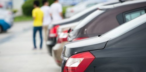 Large inventory of used cars: